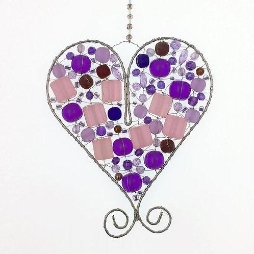 Herz M violett