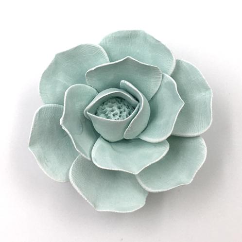 Blüte aus Bisquitporzellan mint