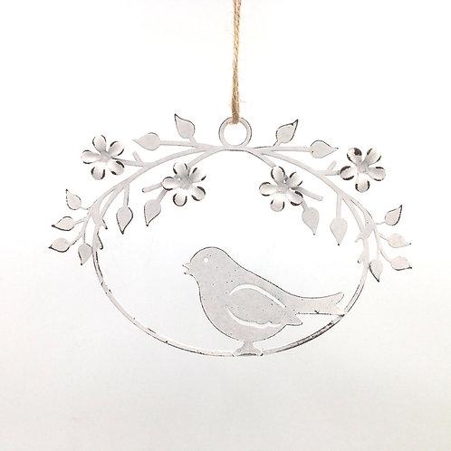 Aufhänger Vogel Kranz (oval 16x10 cm)