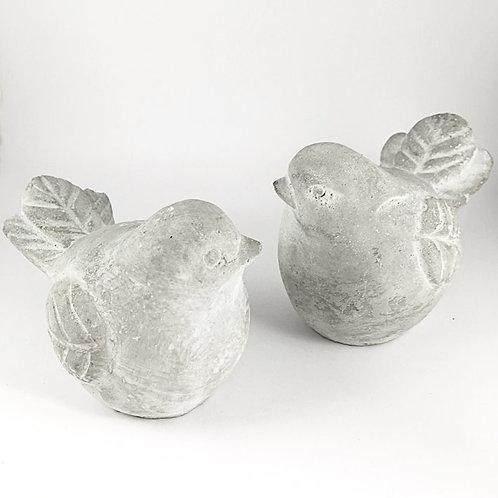 Vogelpaar Beton (Set 2)
