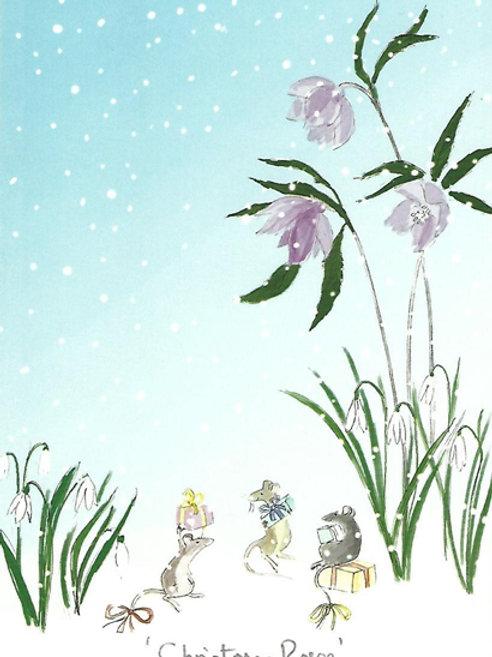 Karte - *Christmas Roses*