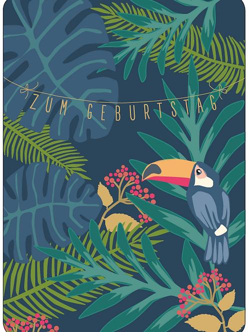 Postkarte - Zum Geburtstag (Dschungel)