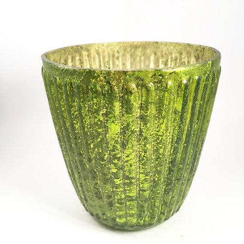 Windlicht grün-silber