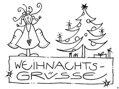 Kärtchen - Weihnachtsgrüsse