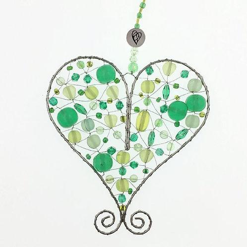 Herz M grün