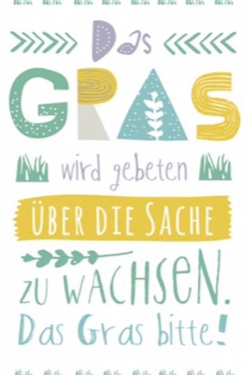 Postkarte 12x17cm - Gras