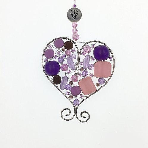 Herz S violett