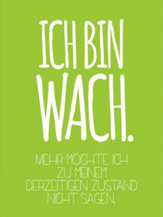 Postkarte Wach