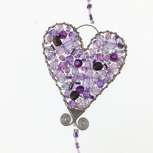 Herz mit Klunker S lila
