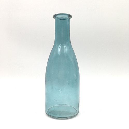 Vase Glas H 18cm - ozeanblau klar
