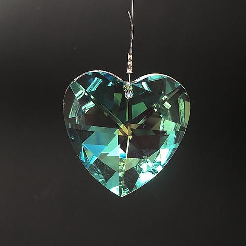 Kristall Herz 40 mm - bedampft A.B.