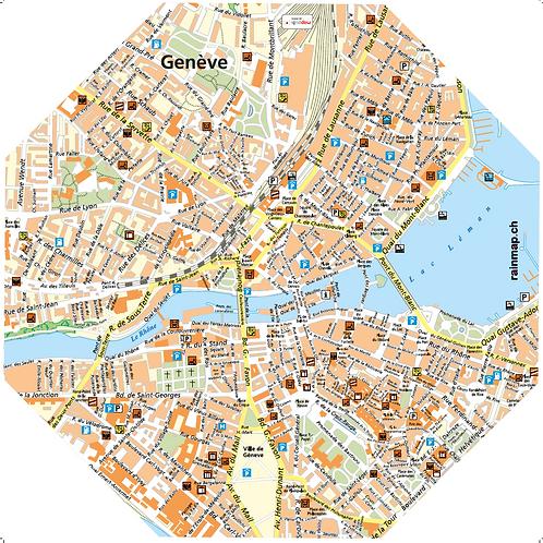Stadtschirm rainmap® - Genève