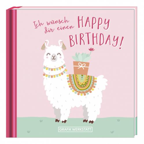 Mini-Buch - Happy Birthday (Lama)