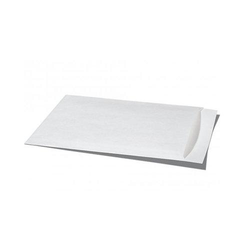 12 Stück Flachbeutel Kraftpapier weiss 13 x 9.5 cm
