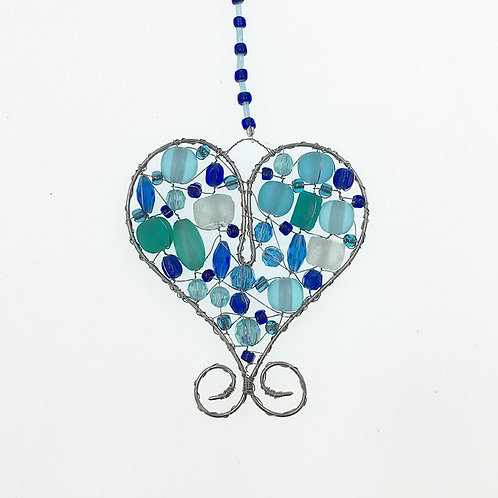 Herz S blau