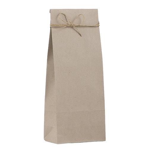 6 Stück Kreuzbodenbeutel Packpapier 12 x 7 / H 30 cm
