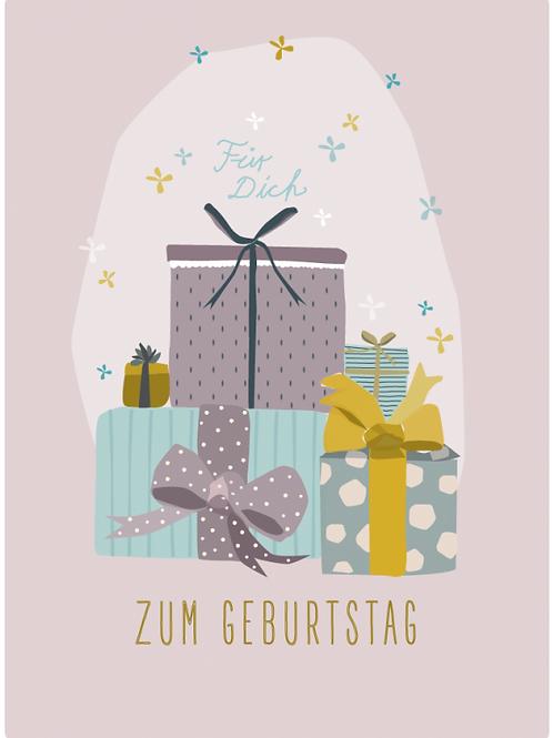Postkarte - Zum Geburtstag (Päckli)