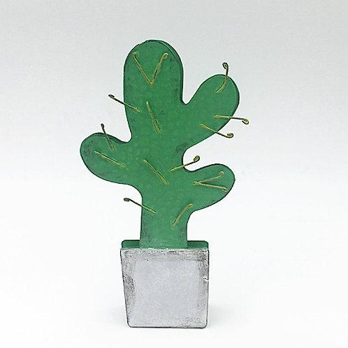 Klammer/Kartenhalter Kaktus dunkelgrün