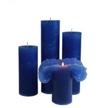 Maria Buytaert Lotuskerze 09.2-blau royal, 22 cm