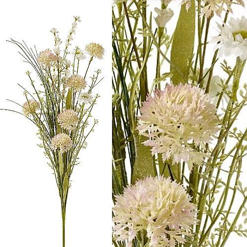 Blütenstrauss mit Gräsern textil/Kunststoff
