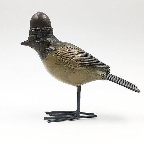 Vogel mit Eichelhut