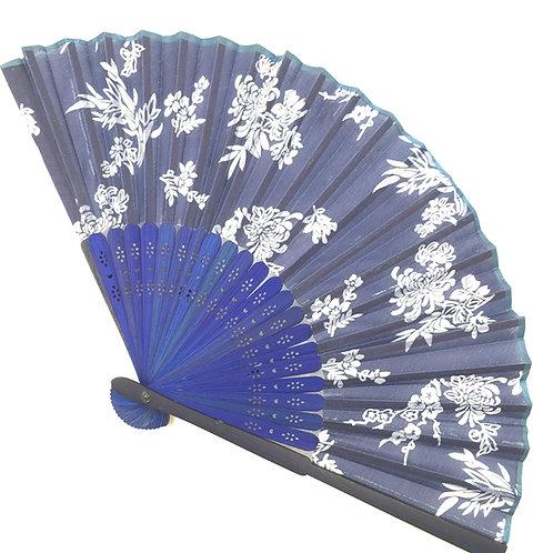 Handfächer blau-weiss Modell C