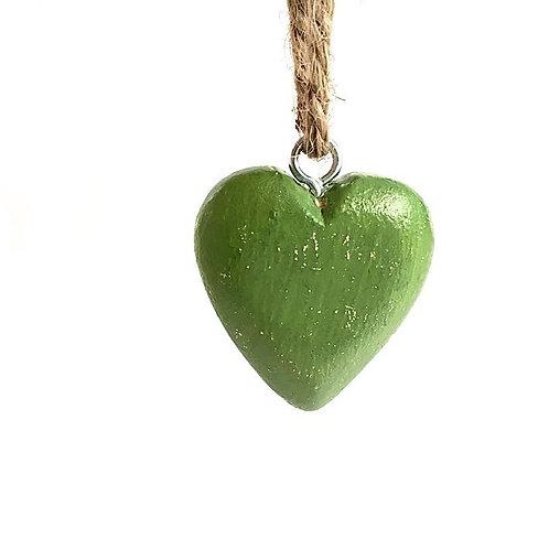 Herz Holz olivegrün
