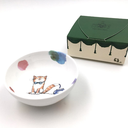 Porzellanschale klein - Art Club Katze