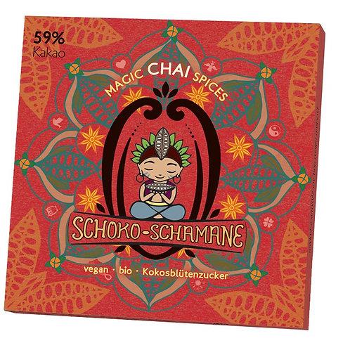 Schoko-Schamane 50g VEGAN - Chai (59% Kakao)