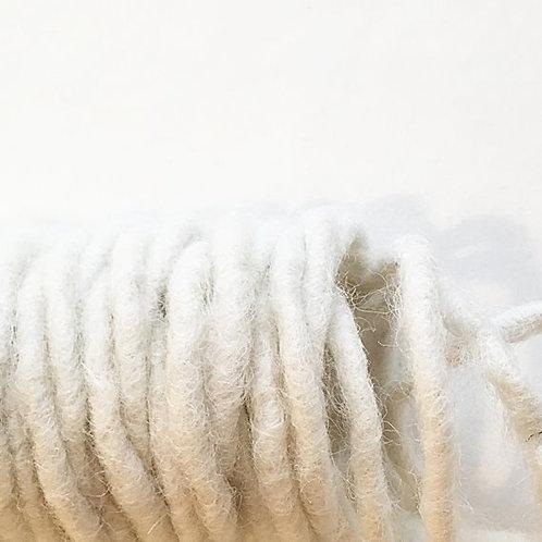 Wollfilz-Schnur beige D 4mm