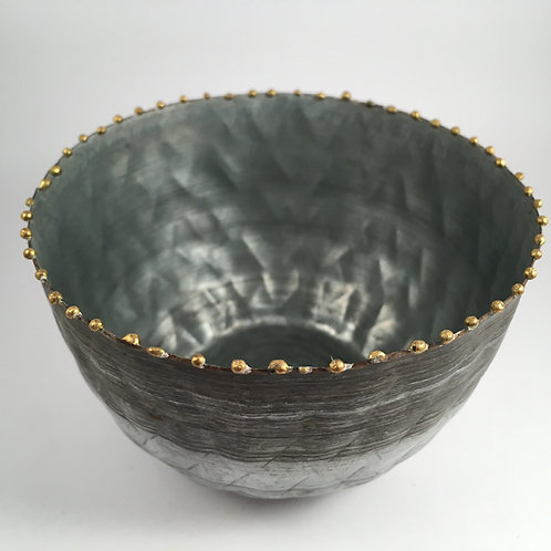 Zinktopf mit Perlenkante M 10,5 cm