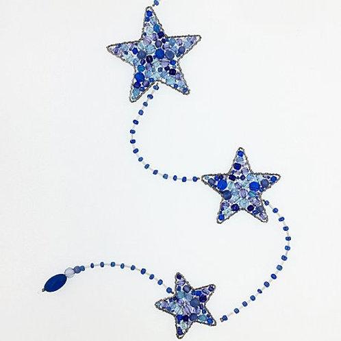 Sterne Trio blau