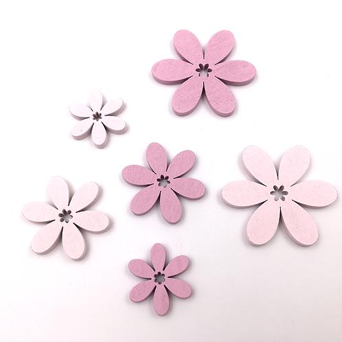 Blüten rosa/pink zum Streuen und Basteln (Beutel mit 6 Stück)