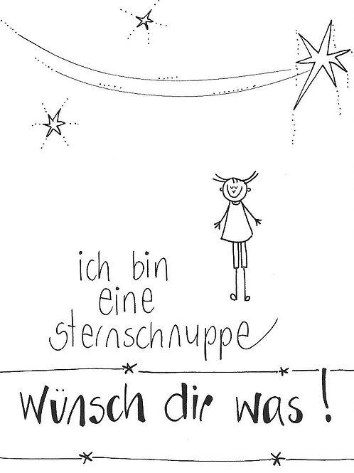 Postkarte - Ich bin eine Sternschnuppe