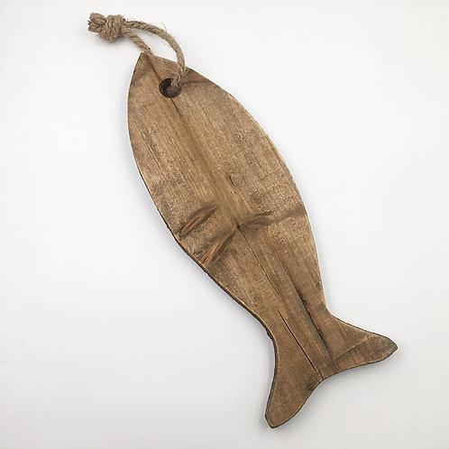 Fisch Holz 40 cm