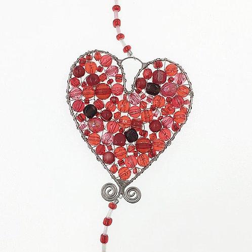 Herz mit Klunker S rot