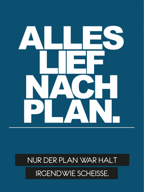 Postkarte Plan