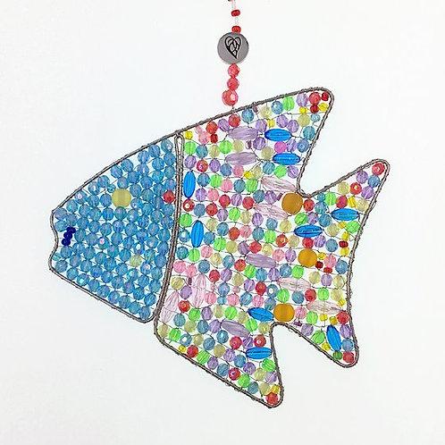 Fisch bunt hellblau