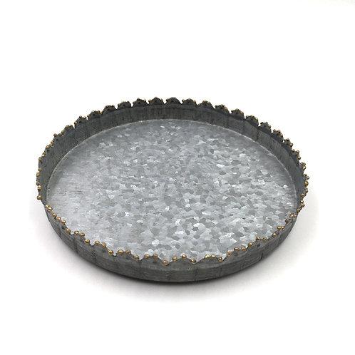 Zinkteller mit Perlenkante M 15cm