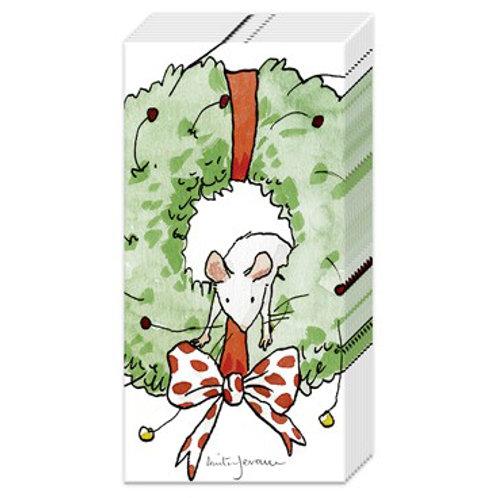 Taschentücher Mouse in a Wreath (Anita Jeram)