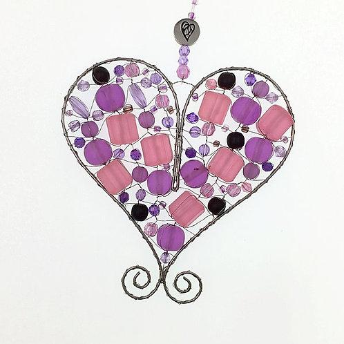 Herz M lilarosa