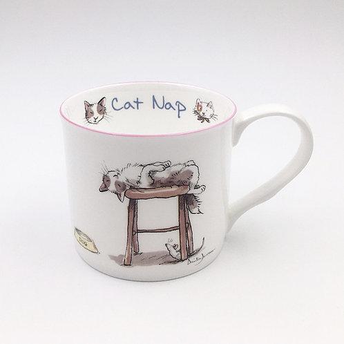 Porzellantasse 300ml Cat nap