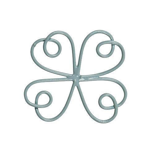 Blume Metall taubenblau