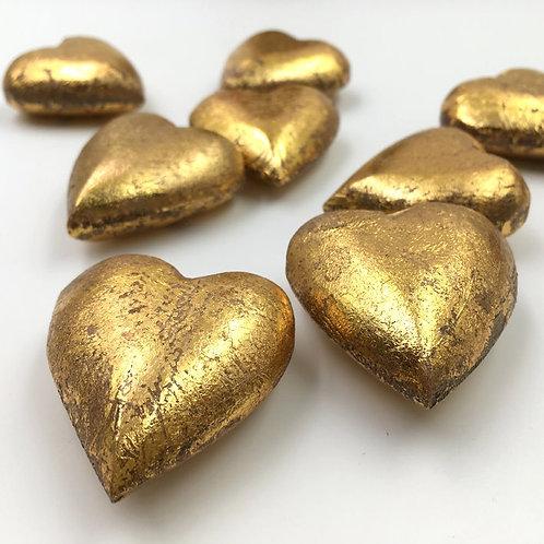 Herz Holz gold