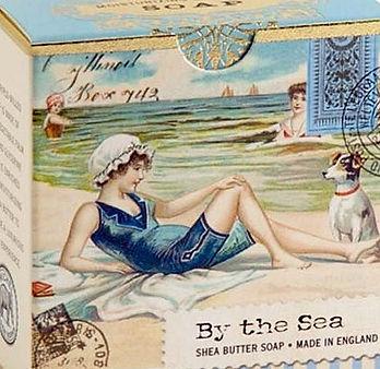 Englische Feinseifen mit Vintage Verpackung Am Meer Jack Russell Terrier