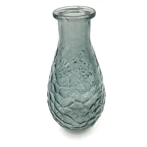 Vase Tropfen mit Waben grüngrau (H14)