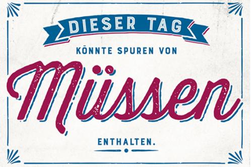 Postkarte 12x17cm - Spuren von Müssen