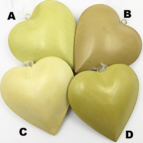 Herz Metall grün