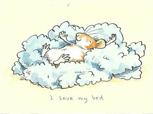 Karte - I love my bed