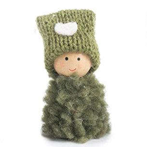 Wichtel mit Mütze 6 cm - grün